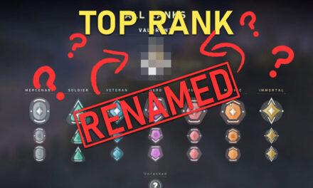 """Valorant"" rank name change?"