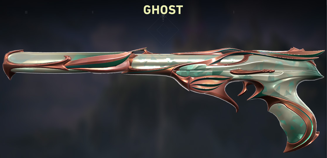 Valorant Sovereign Ghost Skin Gold Variant shop