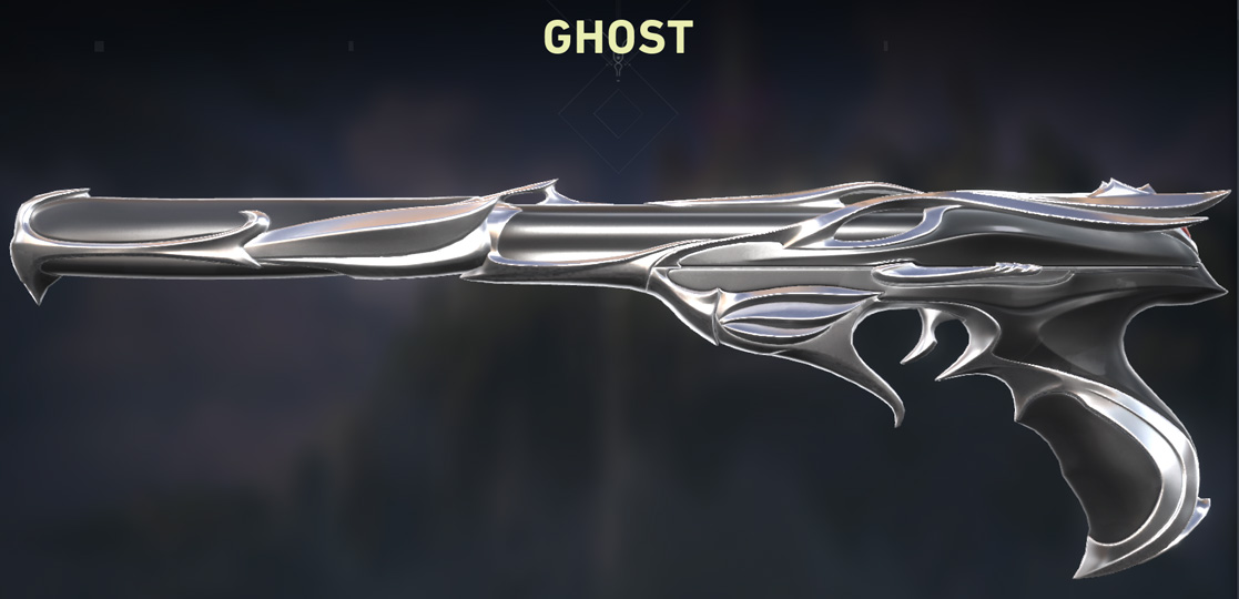 Valorant Sovereign Ghost Skin silver Variant shop