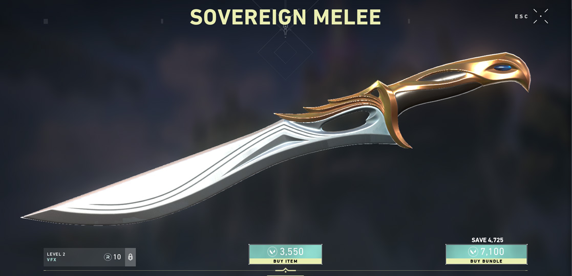 Valorant soverign knife game image
