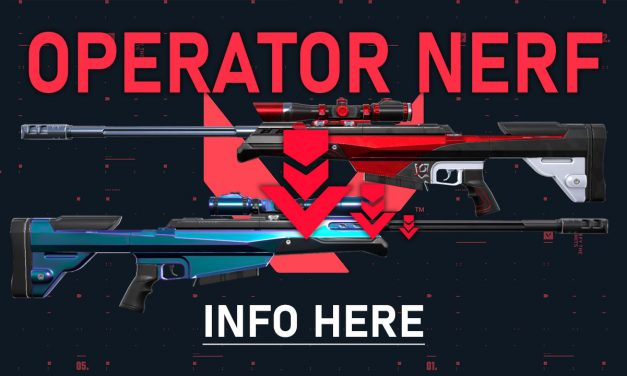 Operator Nerf Coming in Valorant patch 1.09