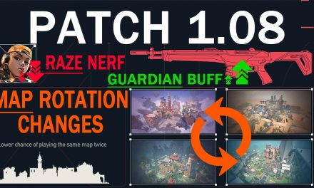Valorant 1.08 patch notes: Guardian buff and map rotation changes