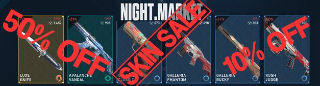 Valorant Skin Discount in Night Market: Up to 50% off!