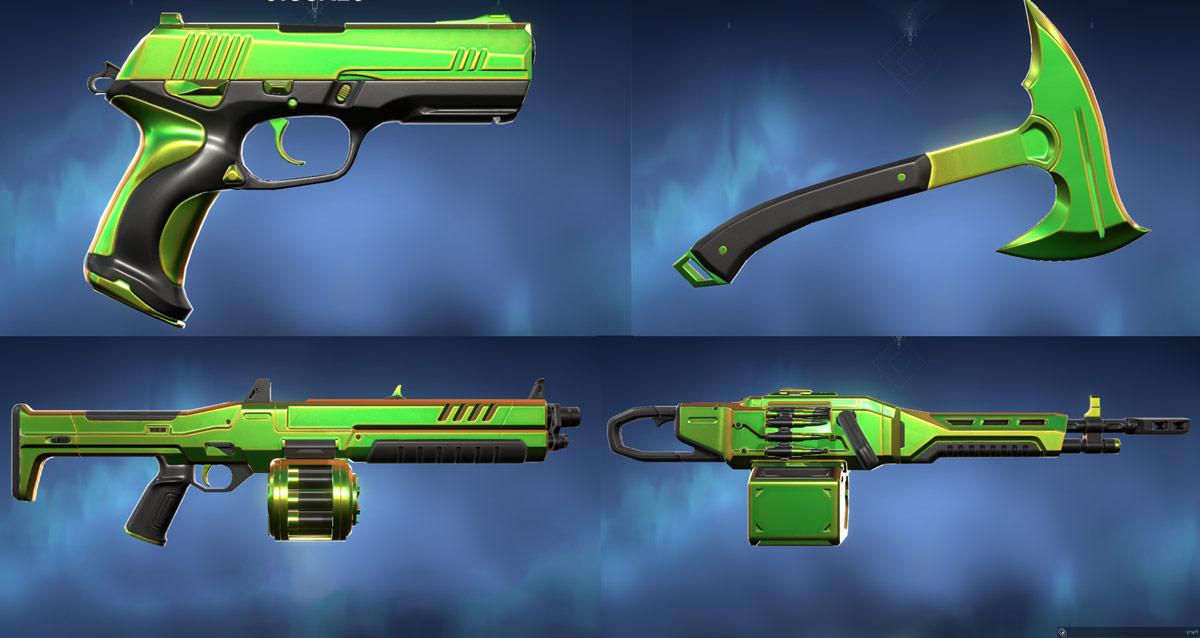 Prism III Skins Green